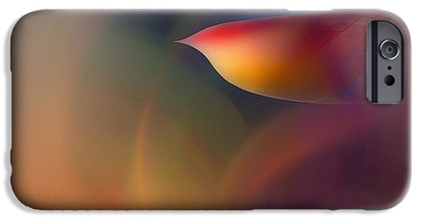 Abstract Expressionism Digital iPhone Cases - The Early Bird-Abstract Art iPhone Case by Karin Kuhlmann