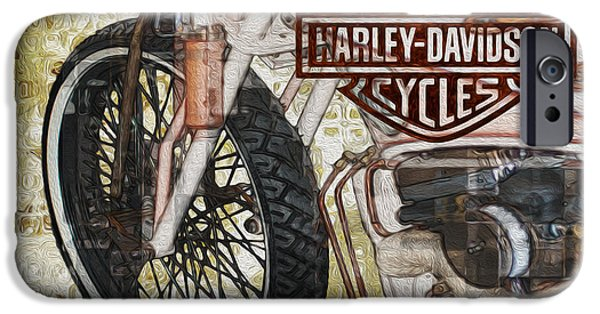Airbrush iPhone Cases - The Early Years Of Harley Davidson iPhone Case by Jack Zulli