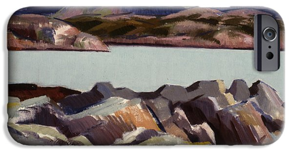 Colorist iPhone Cases - The East Bay  Iona iPhone Case by Francis Campbell Boileau Cadell