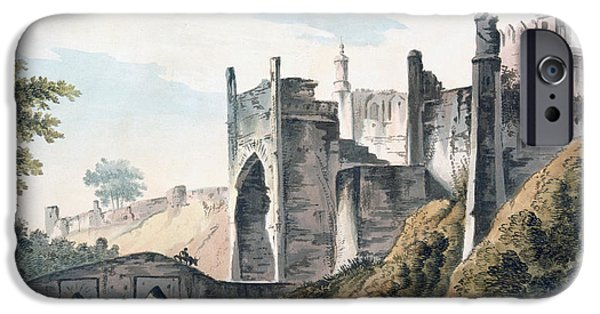 River View Drawings iPhone Cases - The East End of the Fort of Mongheer iPhone Case by William Hodges