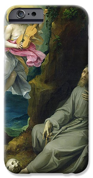 Miracle iPhone Cases - The Ecstasy of St. Francis of Assisi iPhone Case by Guiseppe Cesari