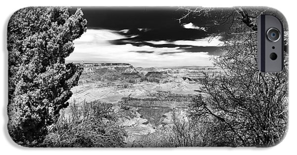The Plateaus iPhone Cases - The Edge of the Canyon iPhone Case by John Rizzuto