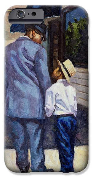 African American Paintings iPhone Cases - The Education of a King iPhone Case by Colin Bootman