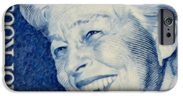 Recently Sold -  - Concept Paintings iPhone Cases - The Eleanor Roosevelt stamp iPhone Case by Lanjee Chee