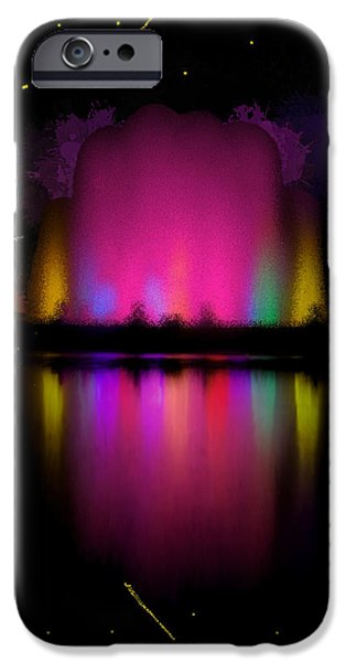 Jet Star iPhone Cases - The Electric Fountain iPhone Case by Bruce Nutting