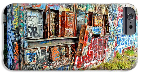 Electrical iPhone Cases - The Electrical Panel for the Old Train Roundhouse at Bayshore near San Francisco and the Cow Palace iPhone Case by Jim Fitzpatrick