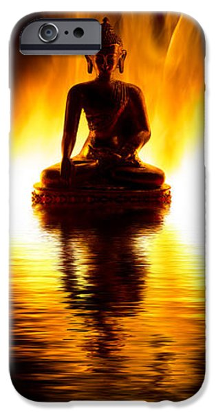 Buddhism iPhone Cases - The Elemental Buddha iPhone Case by Tim Gainey