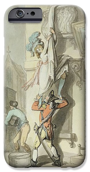 Escape iPhone Cases - The Elopement, 1792 Wc With Pen & Ink Over Graphite On Paper iPhone Case by Thomas Rowlandson