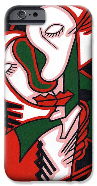 Love Making Paintings iPhone Cases - The Embrace iPhone Case by Kamil Swiatek