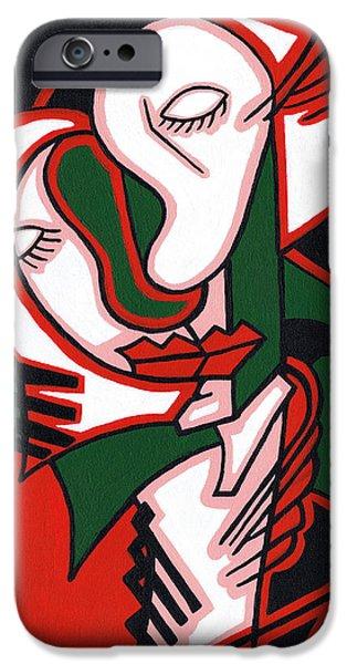 The Embrace iPhone Case by Kamil Swiatek