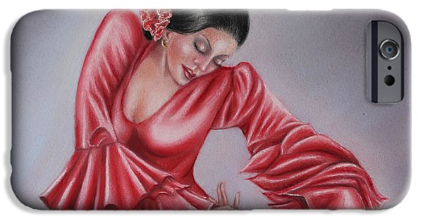 Culture Pastels iPhone Cases - The Emotion Of Dance iPhone Case by Rosemary Colyer