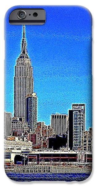 The Empire State Building and The New York Skyline 20130430 iPhone Case by Wingsdomain Art and Photography