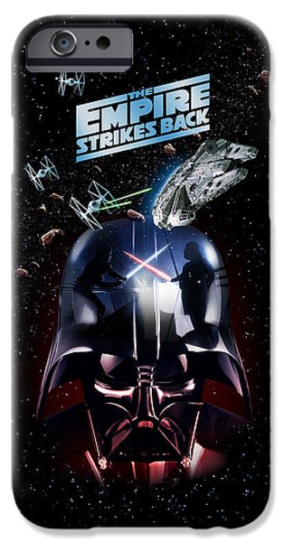 Chase iPhone Cases - The Empire Strikes Back iPhone Case by Edward Draganski