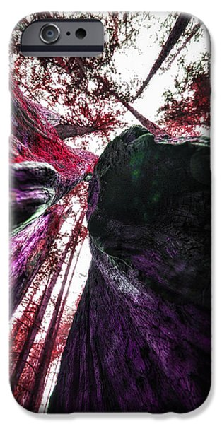 Abstract Digital Pyrography iPhone Cases - The Enchanted Tree iPhone Case by Jack Vainer