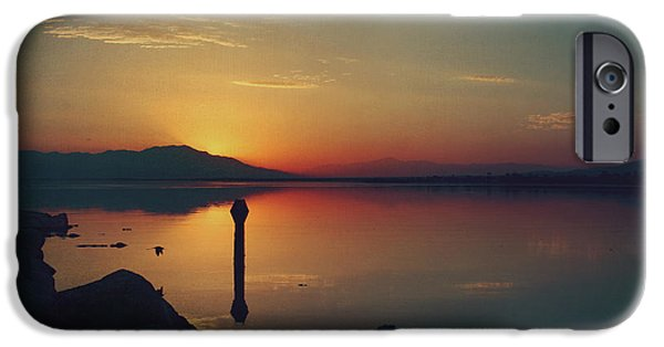 Stillness iPhone Cases - The End of Another Day Without You iPhone Case by Laurie Search