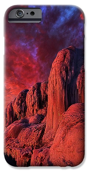 Frozen Lake iPhone Cases - The End of Days iPhone Case by Phil Koch