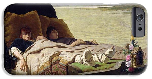 Fate Paintings iPhone Cases - The Enerves de Jumieges iPhone Case by Evariste Vital Luminais
