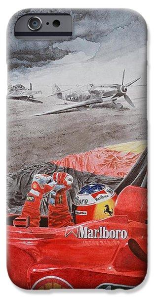 Michael Schumacher iPhone Cases - The Enigma of Erich Hartmann iPhone Case by Oleg Konin
