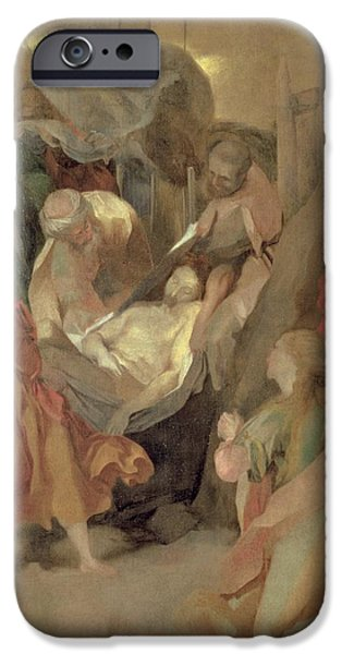Bible iPhone Cases - The Entombment of Christ iPhone Case by Barocci