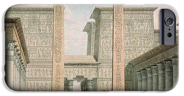 Egyptian iPhone Cases - The Entrance To The Temple, Act I Scene Iii, Set Design For The Magic Flute By Wolfgang Amadeus iPhone Case by German School