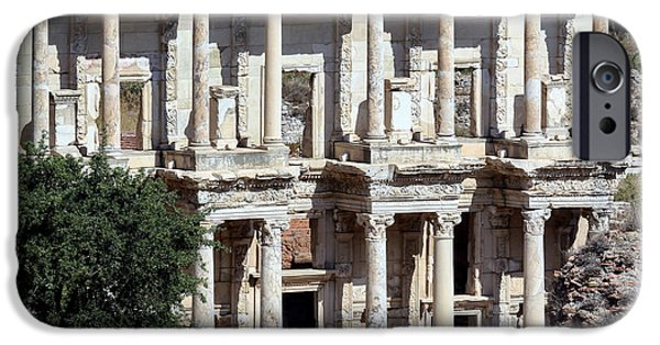 Ephesus iPhone Cases - The Ephesus Library in Turkey iPhone Case by Sabrina L Ryan