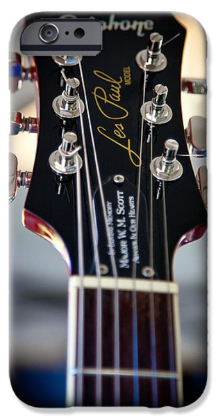 The Kingpins iPhone Cases - The Epiphone Les Paul Guitar iPhone Case by David Patterson