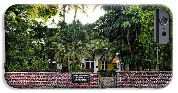 Papa iPhone Cases - The Ernest Hemingway House - Key West iPhone Case by Bill Cannon
