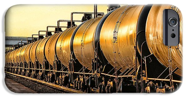 Nebraska iPhone Cases - The Ethanol Train iPhone Case by Bill Kesler