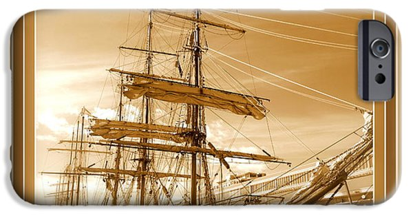 Tall Ship iPhone Cases - The Europa - Tasmania 2013 iPhone Case by Ritchard Mifsud