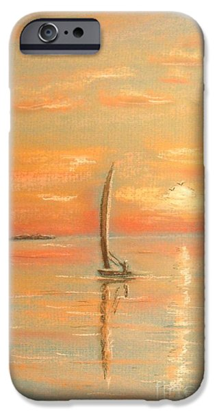 Ocean Sunset Pastels iPhone Cases - The Evening Light iPhone Case by The Beach  Dreamer