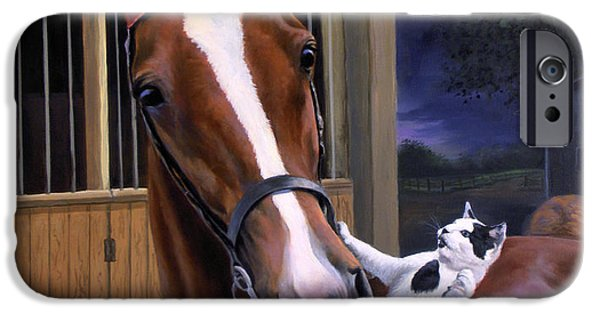 American Saddlebred iPhone Cases - The Evening Post iPhone Case by Jeanne Newton Schoborg