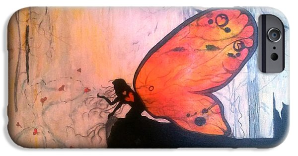 Michelle Mixed Media iPhone Cases - The Everlasting Butterfly iPhone Case by Michelle and Jeanne Reid