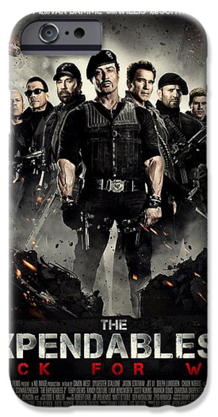 Sylvester Stallone iPhone Cases - The Expendables 2  iPhone Case by Movie Poster Prints