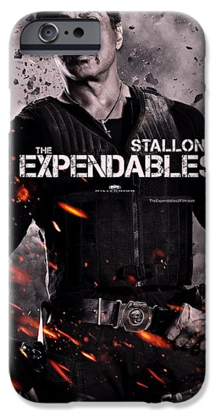 Sylvester Stallone iPhone Cases - The Expendables 2 Stallone iPhone Case by Movie Poster Prints