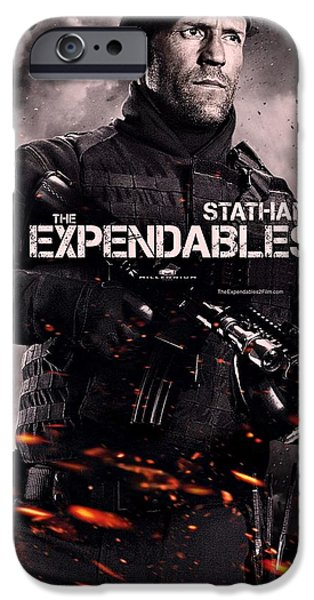 Sylvester Stallone iPhone Cases - The Expendables 2 Statham iPhone Case by Movie Poster Prints