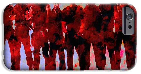 Stallone Digital Art iPhone Cases - The Expendables iPhone Case by Brian Reaves