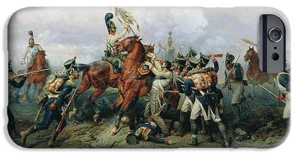 Bayonet iPhone Cases - The Exploit Of The Mounted Regiment In The Battle Of Austerlitz, 1884 Oil On Canvas iPhone Case by Bogdan Willewalde