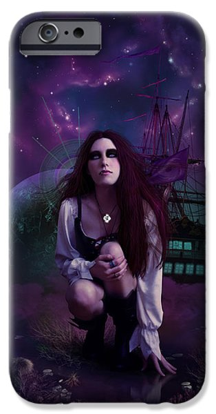 Phantasie iPhone Cases - The Explorer iPhone Case by Cassiopeia Art
