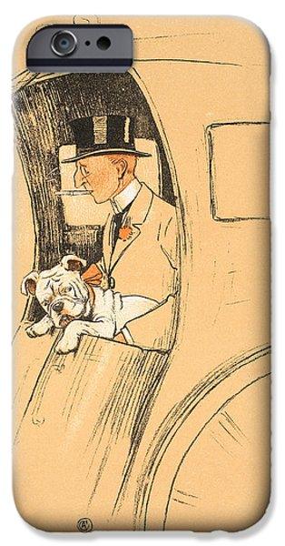 Animal Pastels iPhone Cases - The Extra Passenger iPhone Case by Cecil Charles Windsor Aldin
