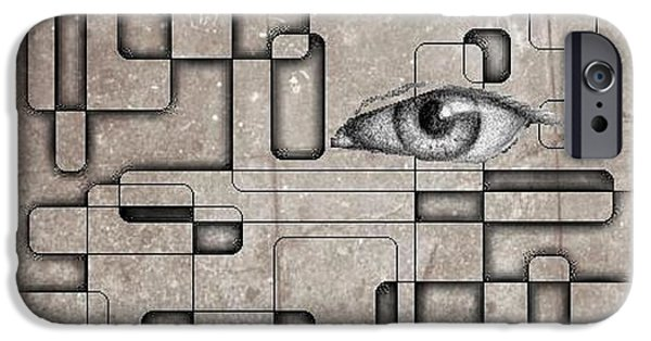Halifax Art Work iPhone Cases - The Eye Of Big Brother iPhone Case by John Malone