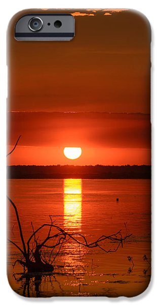 Coast Pyrography iPhone Cases - The eye of God iPhone Case by Attila Simon