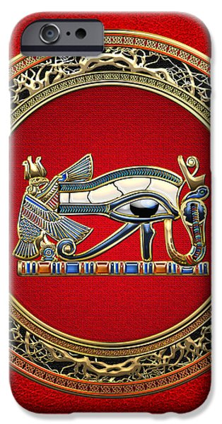 The Eye of Horus iPhone Case by Serge Averbukh