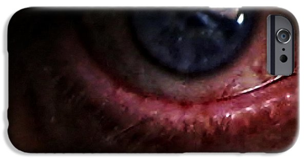 Portrait Of Evil iPhone Cases - The Eye Of Mordor iPhone Case by Nafets Nuarb