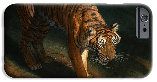 Tigers iPhone Cases - The Eye of the Tiger iPhone Case by Aaron Blaise