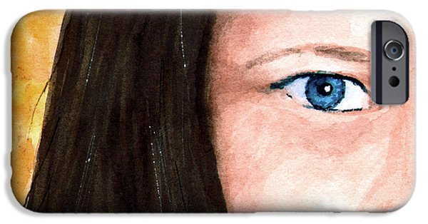 Eyes Paintings iPhone Cases - The Eyes Have It - Bonni iPhone Case by Sam Sidders