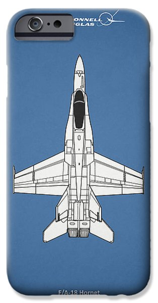 F-18 iPhone Cases - The F-18 Hornet iPhone Case by Mark Rogan