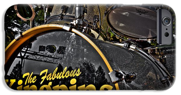 The Kingpins iPhone Cases - The Fabulous Kingpins Drums iPhone Case by David Patterson