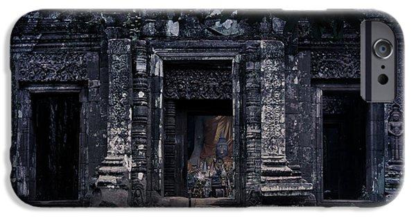 Nawarat Namphon iPhone Cases - The facade of sanctuary iPhone Case by Nawarat Namphon
