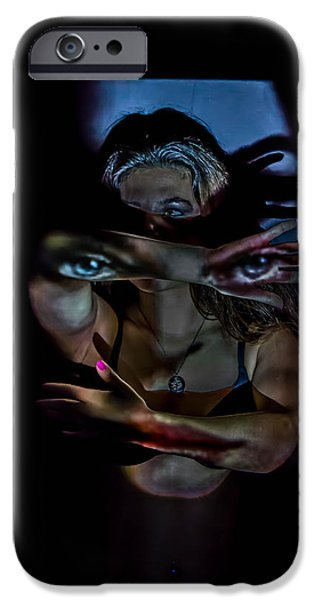 Lips iPhone Cases - The Face iPhone Case by James Williams