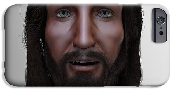 Jesus Sculptures iPhone Cases - The Face of Christ Model iPhone Case by Dave Luebbert
